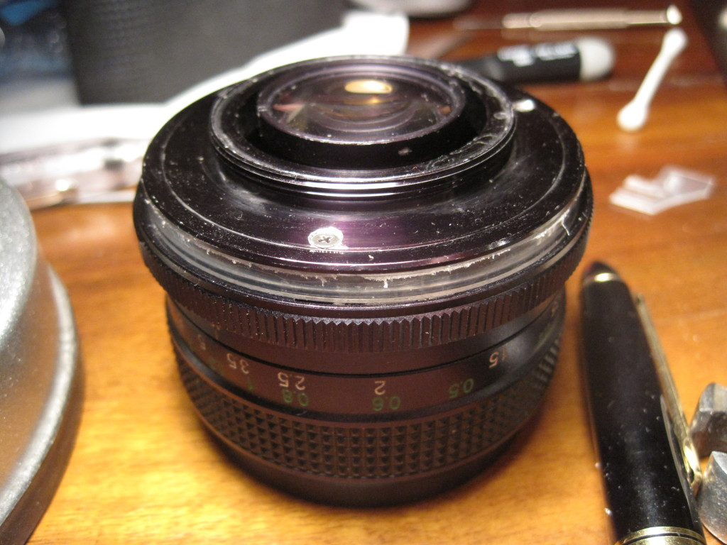 Lair Of The Multimedia Guru » Fixing a 24mm f/2 vivitar/kiron lens